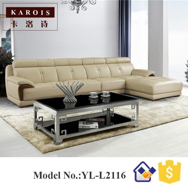 2017 New Design Modern Living Room Furniture Leather Corner Fancy Inside Fancy Sofas (Image 3 of 10)