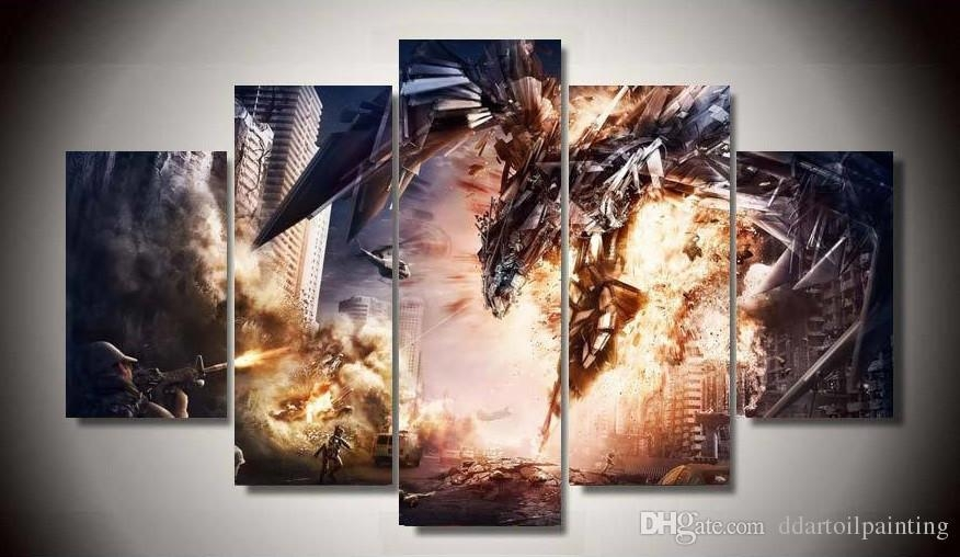 2018 2017 Wall Pictures For Living Room Unframed Anime Dragon For Anime Canvas Wall Art (View 9 of 20)