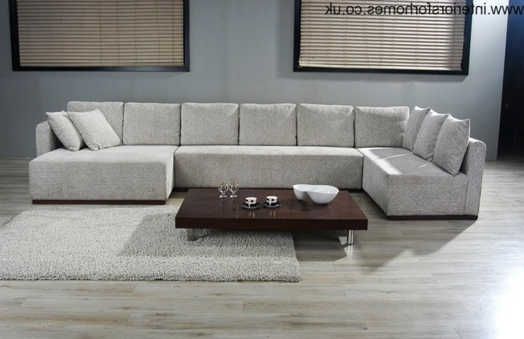 2018 Best Of Big U Shaped Sectionals Pertaining To Big U Shaped Couches (Photo 5 of 10)