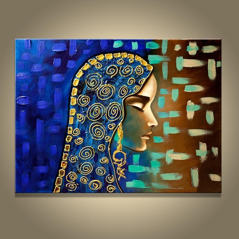 2018 Hand Made Painting Egyptian Girl Wall Canvas Picture Oil Pertaining To Egyptian Canvas Wall Art (Photo 17 of 20)