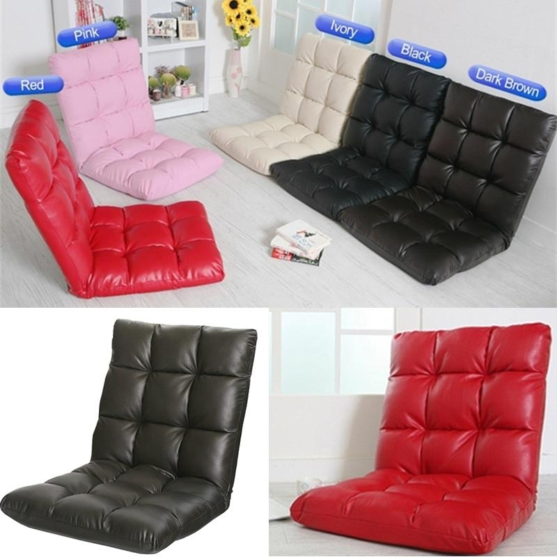 2018 Home & Garden & Bedroom Furniture Pu Leather Lazy Sofa Floor Pertaining To Lazy Sofa Chairs (Image 2 of 10)