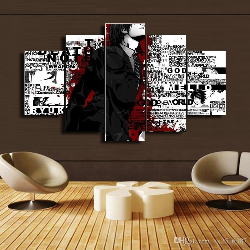 2018 Japanese Anime Canvas Print Painting Modern Canvas Wall Art Inside Modern Canvas Wall Art (Image 3 of 20)