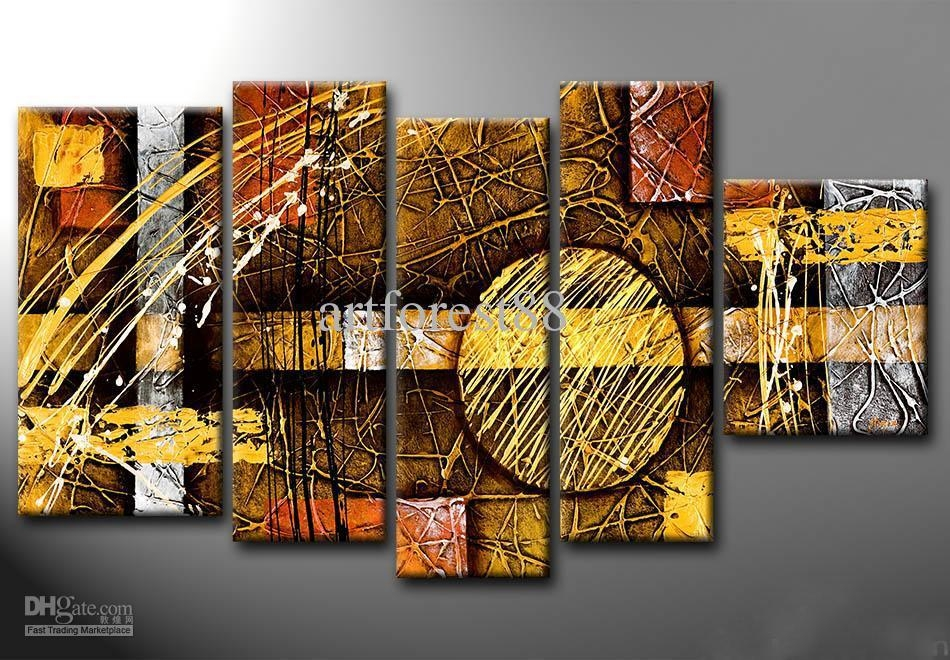 2018 Large Modern Abstract Wall Art For Sale Hand Painted Oil Throughout Modern Abstract Wall Art (View 2 of 20)