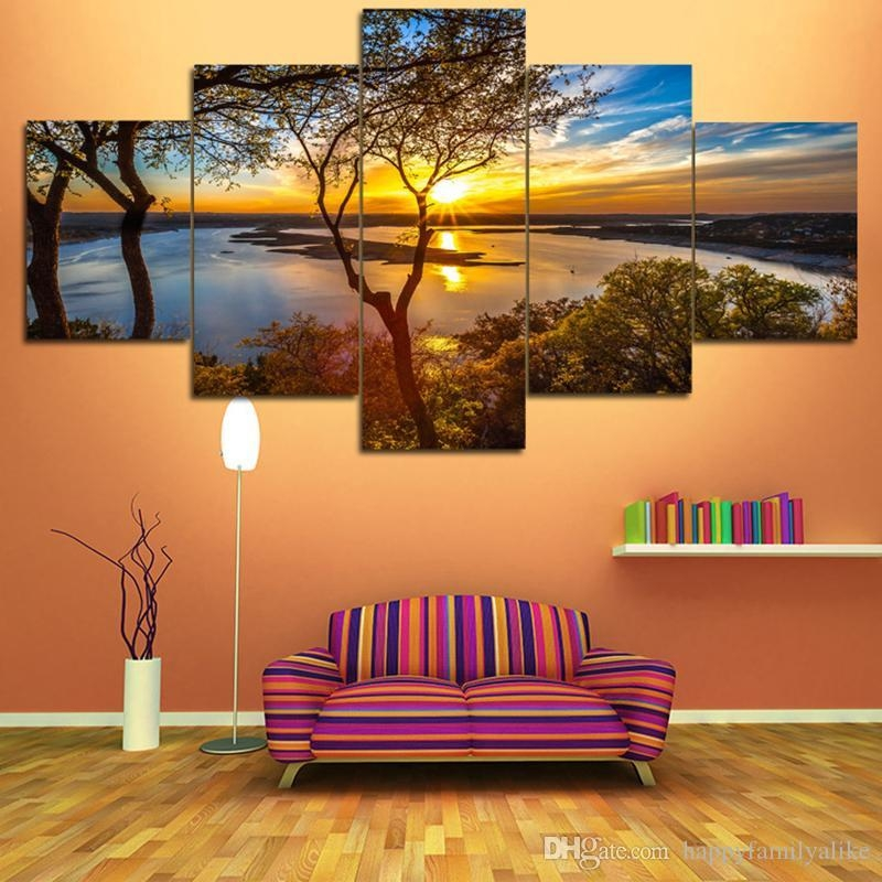 2018 New Panel Homes Natural Canvas Painting Unframed Painting With Nature Canvas Wall Art (Image 3 of 20)