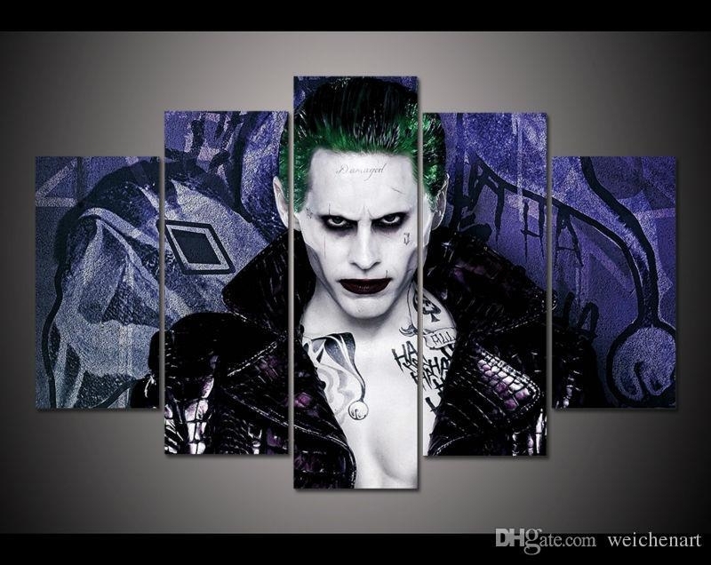 2018 No Framed Hd Printed Painting Suicide Squad Joker Canvas Regarding Joker Canvas Wall Art (View 8 of 20)