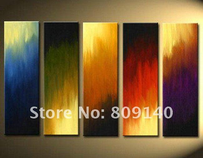 2018 Stretched Abstract Oil Painting Canvas Green Grey Black Within Modern Abstract Oil Painting Wall Art (Photo 5 of 20)
