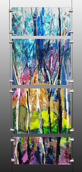 2433 Best Fused Glass Images On Pinterest | Stained Glass, Fused In Abstract Fused Glass Wall Art (Image 1 of 20)