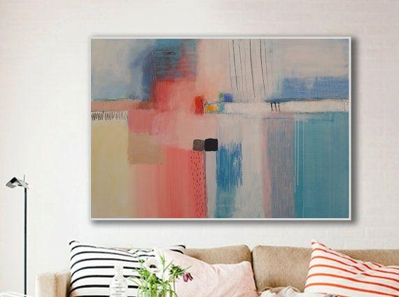 28 Best Interior Design Images On Pinterest | Abstract Art Intended For Horizontal Abstract Wall Art (View 17 of 20)