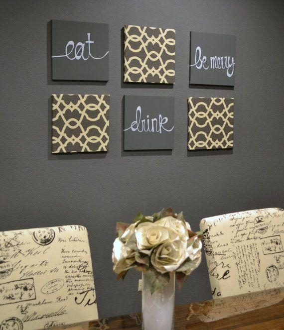 28 Best Painting Ideas Images On Pinterest | Frame, Canvas Art And With Eat Canvas Wall Art (Image 1 of 20)