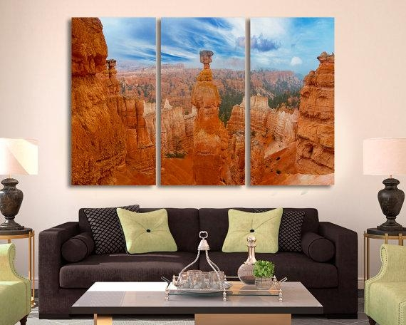 3 Panel Split Wall Art Canvas Print. Grand Canyon Photo Grand For Arizona Canvas Wall Art (Photo 7 of 20)