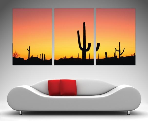 3 Panel Wall Art Prints On Canvas Within Arizona Canvas Wall Art (Image 3 of 20)