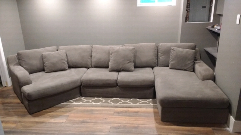 3 Pc Charcoal Grey Sectional | Couches & Futons | Oshawa / Durham Regarding Durham Region Sectional Sofas (Image 3 of 10)