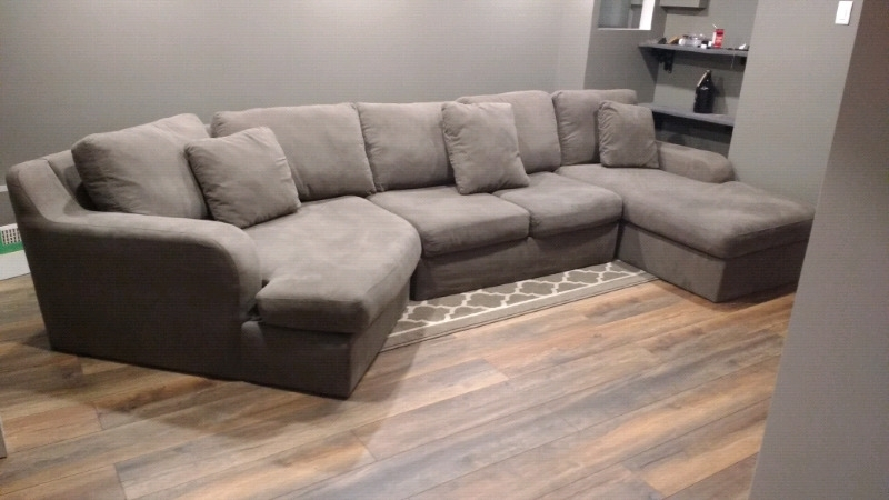 3 Pc Charcoal Grey Sectional | Couches & Futons | Oshawa / Durham Throughout Durham Region Sectional Sofas (Image 4 of 10)