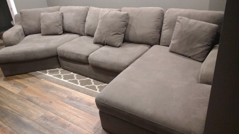 3 Pc Charcoal Grey Sectional | Couches & Futons | Oshawa / Durham With Oshawa Sectional Sofas (Image 2 of 10)