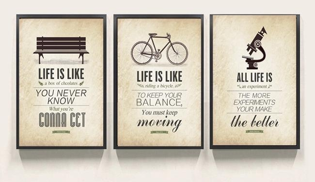 3 Pcs Modern Minimalist Bedroom Wall Art Black White Motivational Within Canvas Wall Art Quotes (View 9 of 20)
