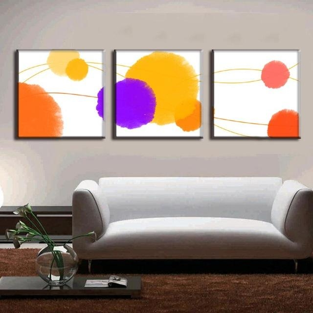 3 Pcs/set Abstract Canvas Wall Art Canvas Painting 3 Pieces The In Abstract Canvas Wall Art Iii (Image 1 of 20)