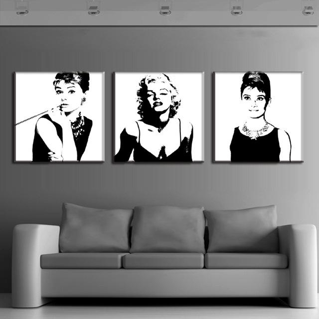 3 Pcs Vintage Poster Portrait Oil Painting Canvas Wall Art Picture Intended For Portrait Canvas Wall Art (Image 2 of 20)