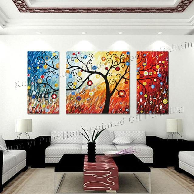 3 Piece Canvas Wall Art Large Modern Abstract Wall Panel Decor Throughout Abstract Canvas Wall Art Iii (Image 3 of 20)