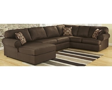 3 Piece Chaise Sectional – Dark Brown – Sam Levitz Furniture For Homemakers Sectional Sofas (Image 2 of 10)