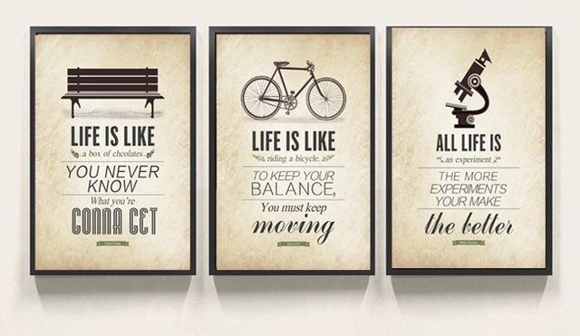 3 Piece Modern Minimalist Bedroom Wall Art Black White Within Large Canvas Wall Art Quotes (Photo 12 of 20)