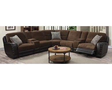 3 Piece Recliner Sectional – Chocolate – Sam Levitz Furniture | Sam Intended For Sam Levitz Sectional Sofas (Image 2 of 10)