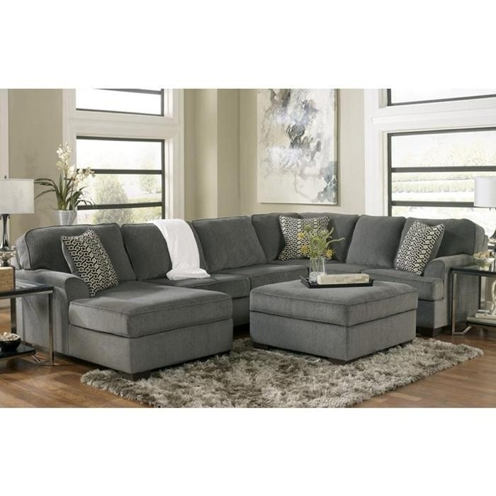 3 Piece Sectional And Ottoman In Loric Smoke | Nebraska Furniture In Sectionals With Ottoman (Image 1 of 10)