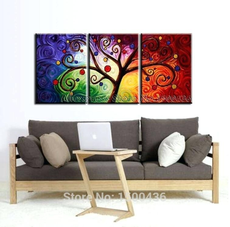 3 Piece Wall Art Sets – Euprera2009 Regarding Abstract Canvas Wall Art Iii (Image 5 of 20)