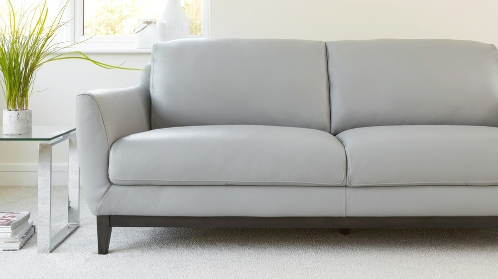 3 Seater Leather Sofa | Living Room Furniture | Uk Throughout Modern 3 Seater Sofas (View 9 of 10)