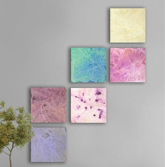 30 Best Art Project Images On Pinterest | Merry Christmas, La La Within Pastel Abstract Wall Art (Image 1 of 20)