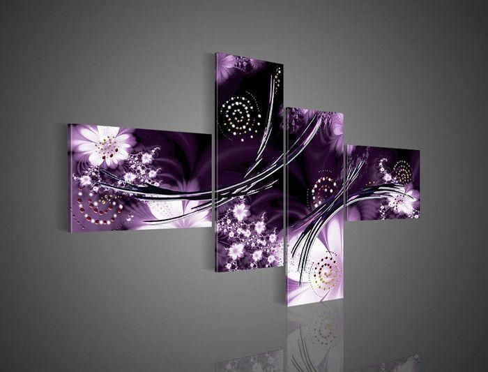 32 Best Wall Art Images On Pinterest | Canvases, Painting Abstract Pertaining To Canvas Wall Art In Purple (Image 3 of 20)