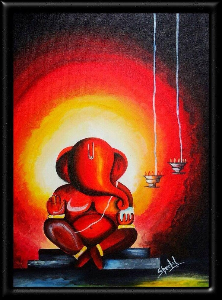 34 Best Ganapathi Paintings Images On Pinterest | Ganesha Painting With Regard To Abstract Ganesha Wall Art (View 14 of 20)