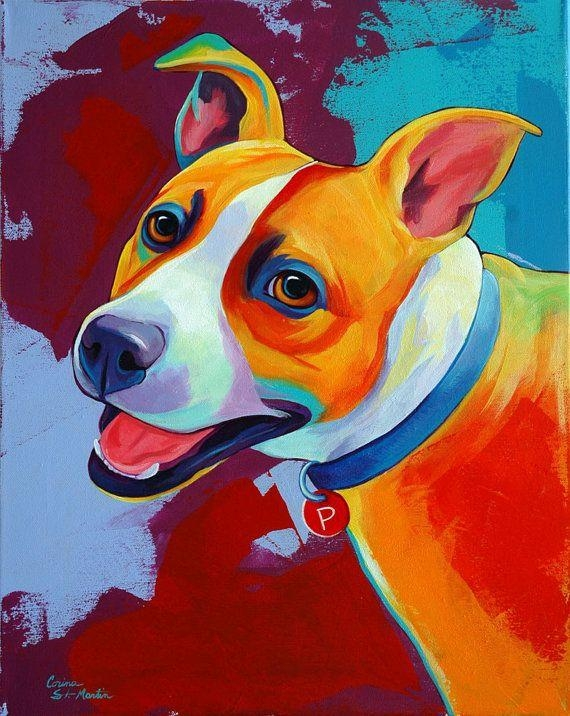 353 Best Dogs: Art 9 / Images On Pinterest | Dog Art, Dogs And Animaux Regarding Dogs Canvas Wall Art (Image 3 of 20)
