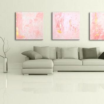 "36"" Pink Light Blue Gray Brown Black From Editvorosart With Pink Abstract Wall Art (Image 2 of 20)"