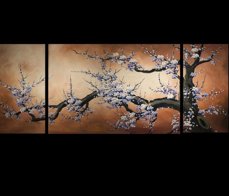 38 Best Cherry Blossom Paintings Images On Pinterest | Japanese Regarding Japanese Canvas Wall Art (Photo 17 of 20)