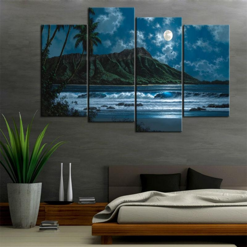 4 Piece Canvas – Chinese Goods Catalog – Chinaprices Throughout Hawaii Canvas Wall Art (Image 3 of 20)
