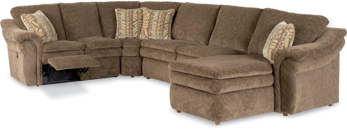 4 Piece Reclining Sectional Sofa With Lasla Z Boy | Wolf And In Sectional Sofas At Lazy Boy (View 2 of 10)