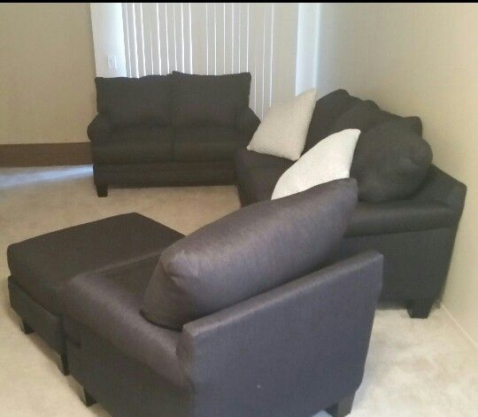 4 Piece Sectional Couch (Furniture) In Lubbock, Tx – Offerup Regarding Lubbock Sectional Sofas (Image 1 of 10)