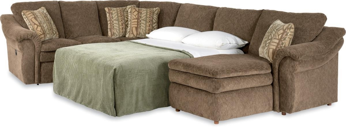 4 Piece Sectional Sofa With Ras Chaise And Full Sleeperla Z Boy Within Sectional Sofas At Lazy Boy (Photo 4 of 10)