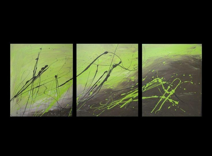 40 Best Canvas Art Images On Pinterest | Canvas Art Paintings Inside Green Abstract Wall Art (View 6 of 20)