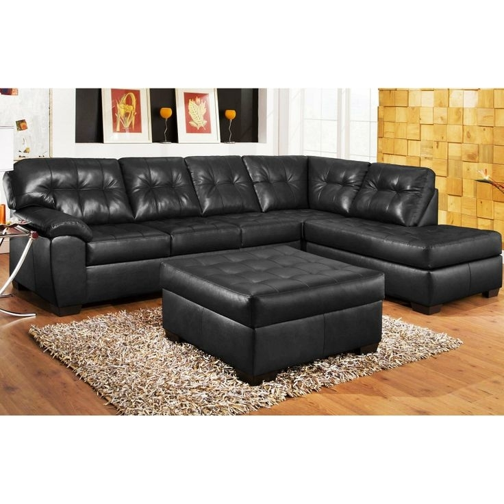 40 Best Sectional Sofa Images On Pinterest | Sectional Sofas, Fabric With Regard To Black Leather Sectionals With Ottoman (Photo 4 of 10)