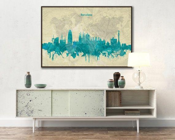 40 Best Vintage Skylines Of World Cities Images On Pinterest In Nottingham Canvas Wall Art (View 18 of 20)