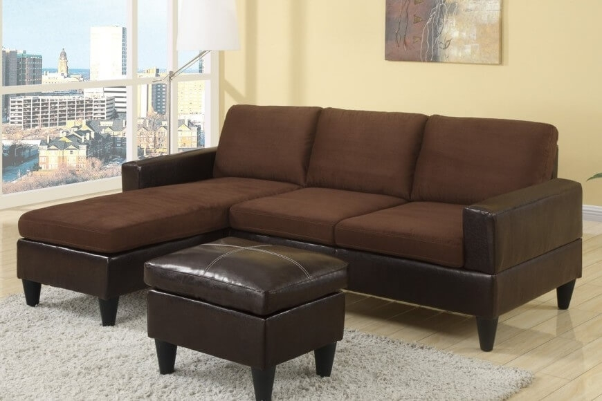 40 Cheap Sectional Sofas Under $500 For 2018 In Small Sectional Sofas With Chaise And Ottoman (Photo 5 of 10)