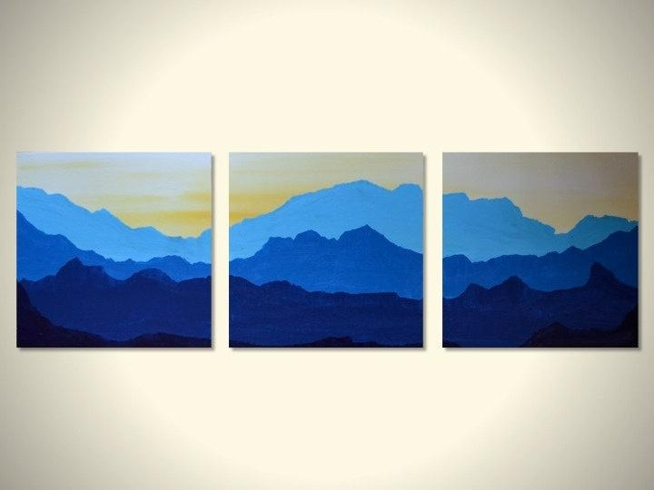 40 Nice Design Landscape Wall Art | Panfan Site In Mountains Canvas Wall Art (Image 4 of 20)