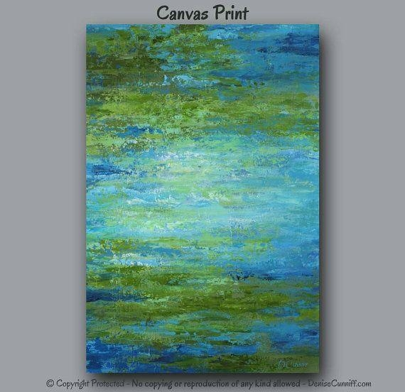 403 Best Colors Green+Blue Images On Pinterest | Office Decor With Olive Green Abstract Wall Art (Image 3 of 20)