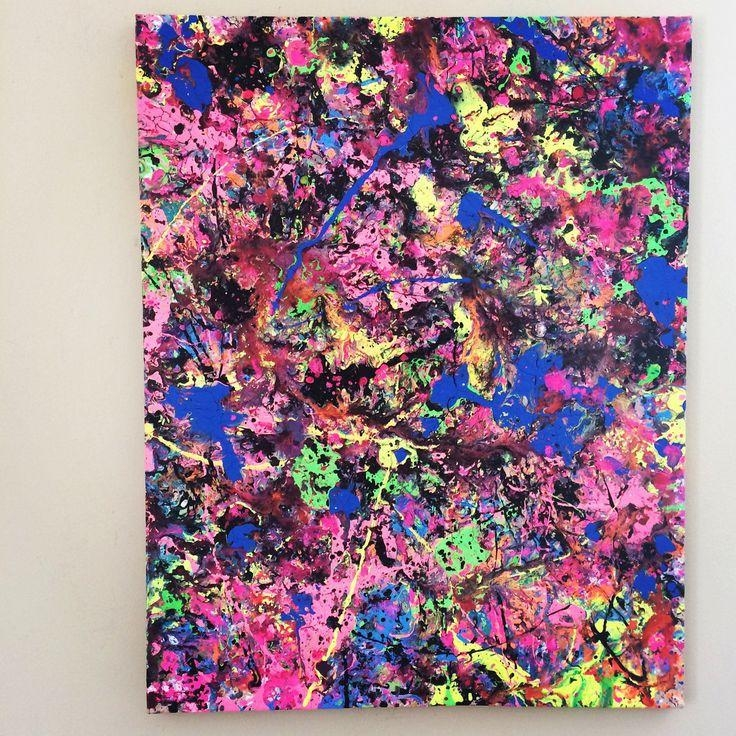 43 Best Splatter Art Images On Pinterest | Splatter Art, Abstract With Abstract Neon Wall Art (Image 6 of 20)