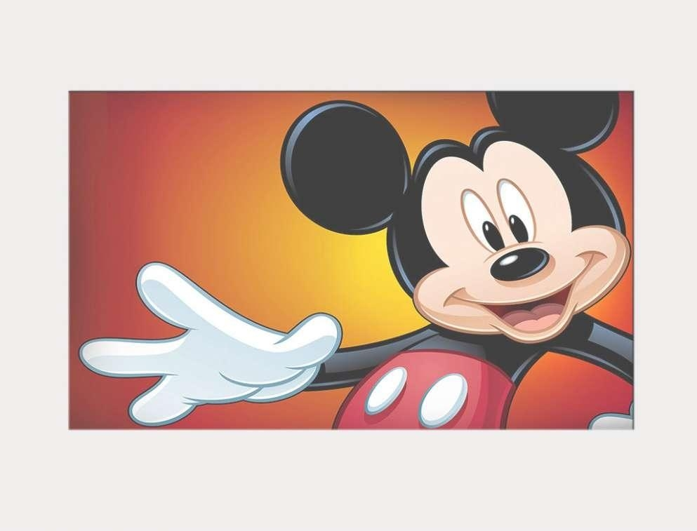 43 Ideas Of Mickey Mouse Canvas Wall Art Throughout Mickey Mouse Canvas Wall Art (Image 1 of 20)