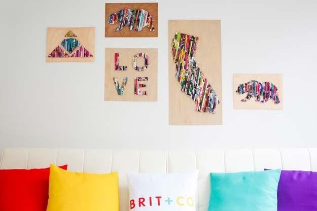46 Best Diy Dorm Room Decor Ideas – Diy Projects For Teens With Canvas Wall Art For Dorm Rooms (Image 2 of 20)