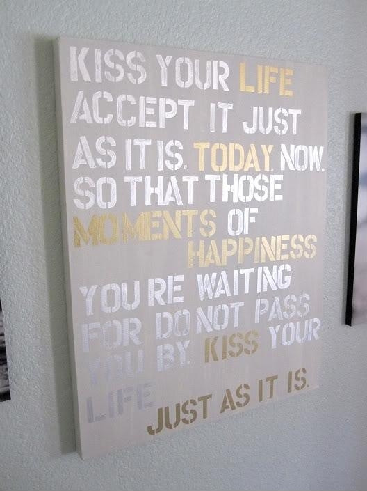 5 Diy Wall Art With Quotes | Paint Pens, Canvases And Super Easy For Canvas Wall Art Quotes (Image 3 of 20)