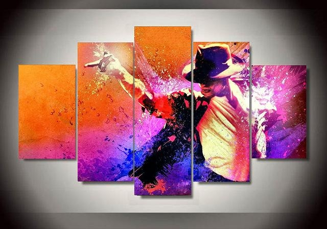5 Panel Grammy Lifetime Achievement Award Michael Jackson Home Intended For Michael Jackson Canvas Wall Art (View 13 of 20)