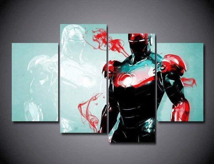 "5 Panel ""iron Man"" Marvel Canvas Wall Art | Octotreasure Inside Marvel Canvas Wall Art (Photo 19 of 20)"